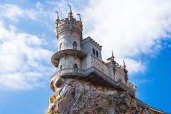 замок известный около добра yalta ласточки гнездя s Gaspra Крым field вал Стоковые Фотографии RF