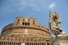 замок Италия rome angelo sant Стоковые Изображения