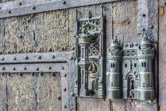 Замок и дверь здание муниципалитета вытягивают внутри Mons, Бельгию. Стоковые Фото