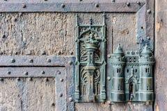 Замок и дверь здание муниципалитета вытягивают внутри Mons, Бельгию Стоковая Фотография RF