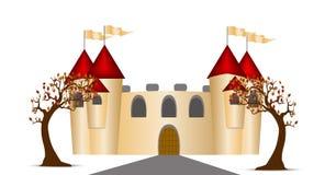 Замок и деревья Стоковые Изображения RF