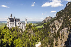 Замок и живая природа Нойшванштайна Стоковое Изображение RF