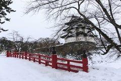 Замок и мост Hirosaki Стоковые Фотографии RF