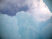 Замок и небо льда в Нью-Гэмпшир Стоковое фото RF