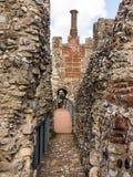 Замок и печная труба Framlingham Стоковые Изображения