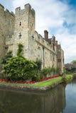 Замок и ров Hever Стоковая Фотография