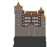 Замок, иллюстрация вектора Стоковое Изображение RF