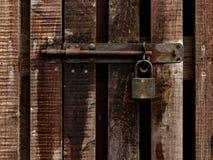 Замок и padlock сбора винограда Стоковое Фото