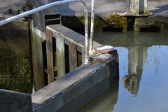 Замок канала в Брэдфорде на Эвоне Стоковое Изображение RF