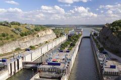 замок канала Стоковое Изображение RF