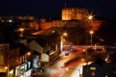 Замок Карлайла на сумраке Стоковое фото RF