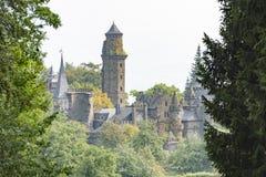 Замок Кассель Wilhelmshoehe львов, замок сказки, Германия Стоковое фото RF