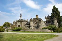 Замок Кассель Wilhelmshoehe львов, замок сказки, Германия Стоковая Фотография RF