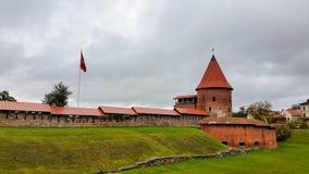 Замок Каунаса, построенный во время столетия mid-14 Стоковые Фото