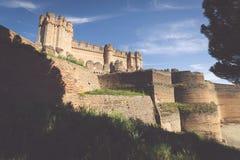 Замок коки (Castillo de Кока) городище построенное внутри Стоковые Фото