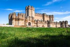 Замок коки (Castillo de Кока) городище построенное внутри Стоковая Фотография RF