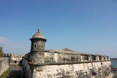 замок Колумбия колониальный de indias cartagena Стоковое фото RF