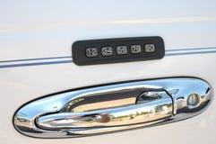 замок комбинации автомобиля Стоковое Изображение RF