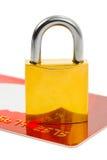 замок кредита карточки Стоковая Фотография RF