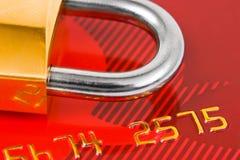 замок кредита карточки Стоковое фото RF