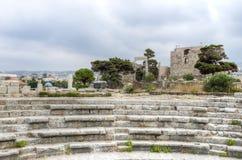 Замок крестоносца, Byblos, Ливан Стоковая Фотография RF