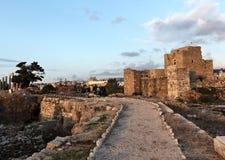 Замок крестоносца Byblos Стоковые Фотографии RF