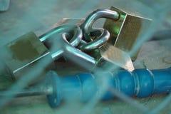 Замок 4 ключей для всех замков для безопасности Стоковые Фотографии RF