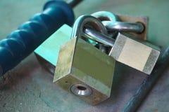 Замок 4 ключей для всех замков для безопасности Стоковая Фотография