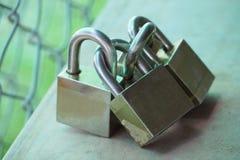 Замок 4 ключей для всех замков для безопасности Стоковая Фотография RF