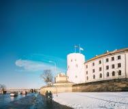 Замок Латвии Риги, известный ориентир ориентир, официальный президент Residenc стоковая фотография rf