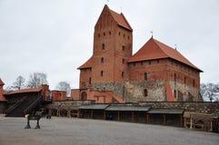 Замок Литвы Trakai средневековый Стоковая Фотография RF