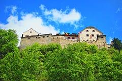 Замок Лихтенштейн Вадуц Стоковые Изображения RF