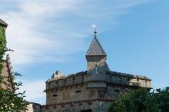 Замок Лихтенштейн - вспомогательное здание с башней Стоковое фото RF