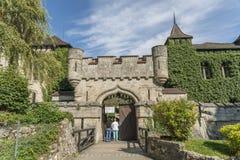 Замок Лихтенштейн - вспомогательное здание с башней Стоковое Изображение
