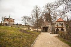 Замок Лихтенштейн, Германия Стоковая Фотография RF