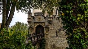 Замок Лихтенштейн около Honau Стоковые Фотографии RF
