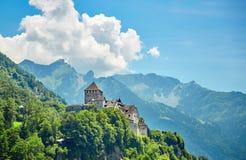 замок Лихтенштейн vaduz Стоковые Фото