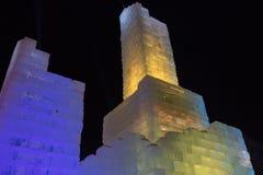 Замок льда популярная привлекательность в городском St Paul, минута стоковые изображения