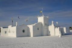 Замок льда, Эллоунайф, NWT, Канада Стоковые Фото