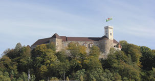 Замок Любляна, Словения Стоковая Фотография RF
