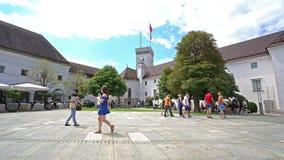 Замок Любляны сток-видео