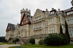 Замок Магдалены Сантандер Испания Стоковые Изображения