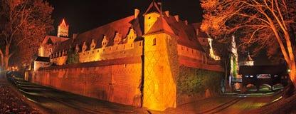 Замок Мальборка Стоковые Изображения RF