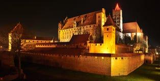 Замок Мальборка Стоковая Фотография RF