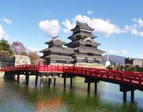 Замок Мацумото в префектуре Nagano, Японии Стоковое Изображение RF