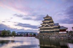 Замок Мацумото-Джо Мацумото, замки в easthern Хонсю, Мацумото-shi японского премьер-министра исторические, зона Chubu, Nagano Стоковое Изображение RF