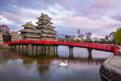 Замок Мацумото & x28; Мацумото-jo& x29; , замки в easthern Хонсю, Мацумото-shi японского премьер-министра исторические, зона Chub Стоковые Фото