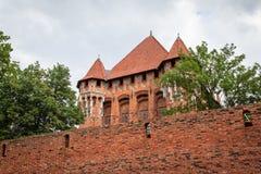 Замок Мальборк, Польша стоковые изображения