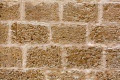 Замок Менорки stonewall текстура стены кладки из тесанного камня Стоковое Изображение