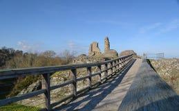 Замок Монтгомери - Уэльс Стоковое Изображение RF